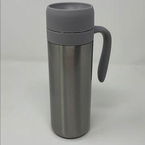 DAVIDsTEA Travel Tumbler Silver Steel Infuser Mug